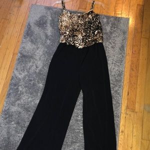 Style &Co Cheetah Jump Suit